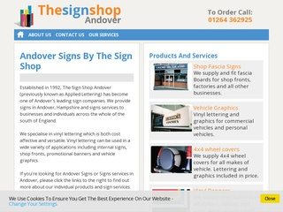 Andover Signs website